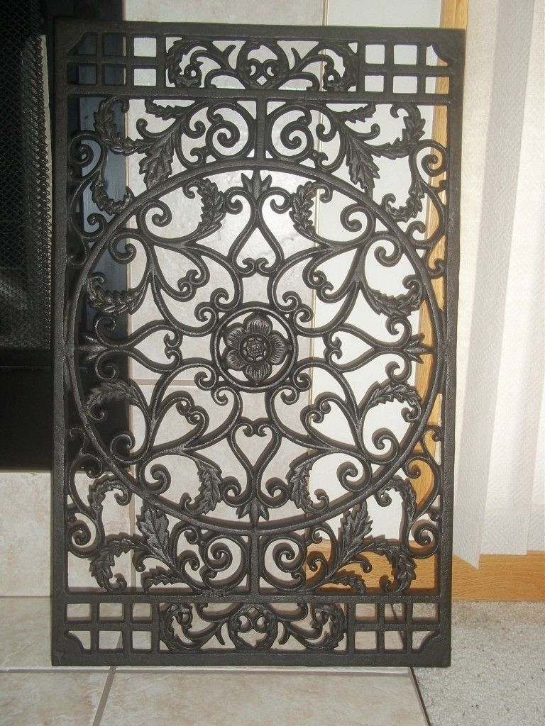 Wrought Iron Wall Decorations, Decorative Iron Wall Sconces – Pskickoff Intended For Wrought Iron Wall Art (View 5 of 20)