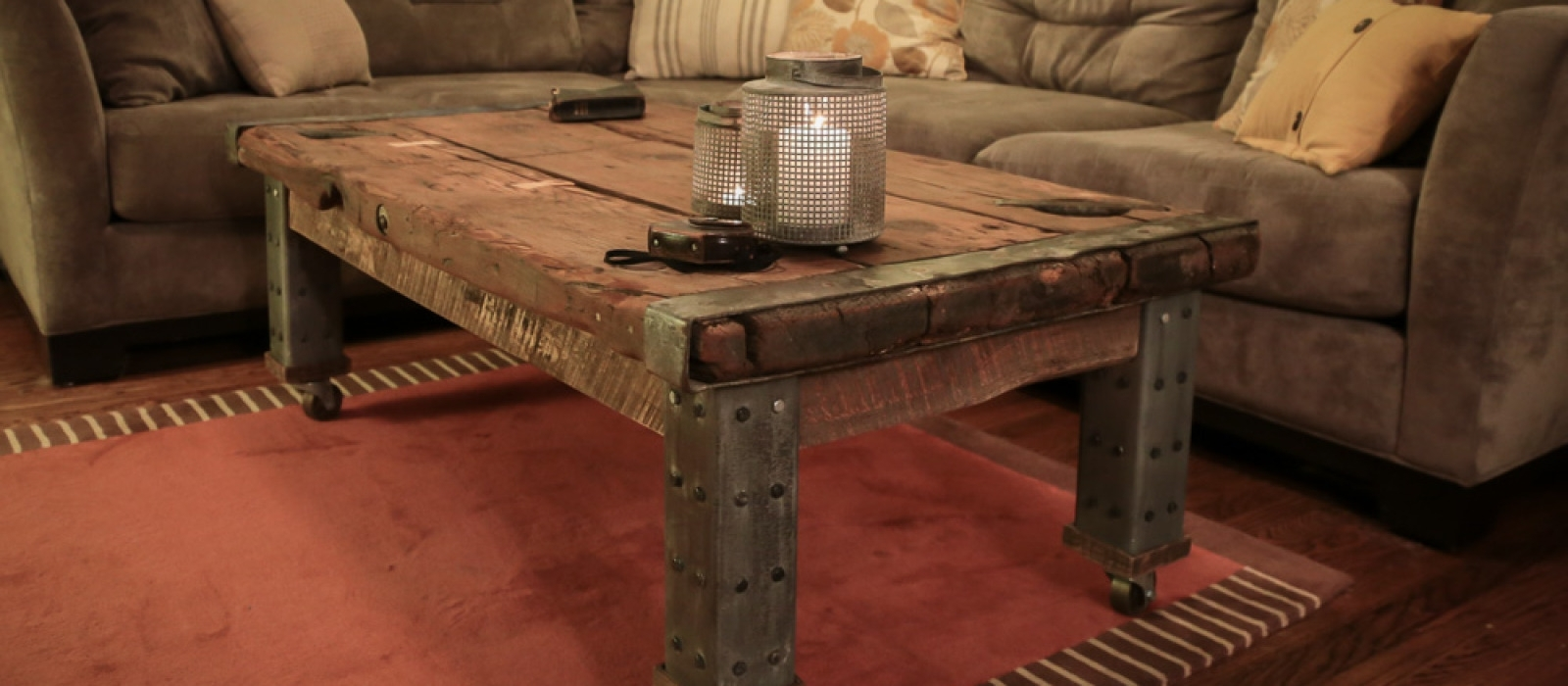 Wwii Ship Hatch Turned Coffee Table | Hammer & Moxie pertaining to Chiseled Edge Coffee Tables (Image 30 of 30)