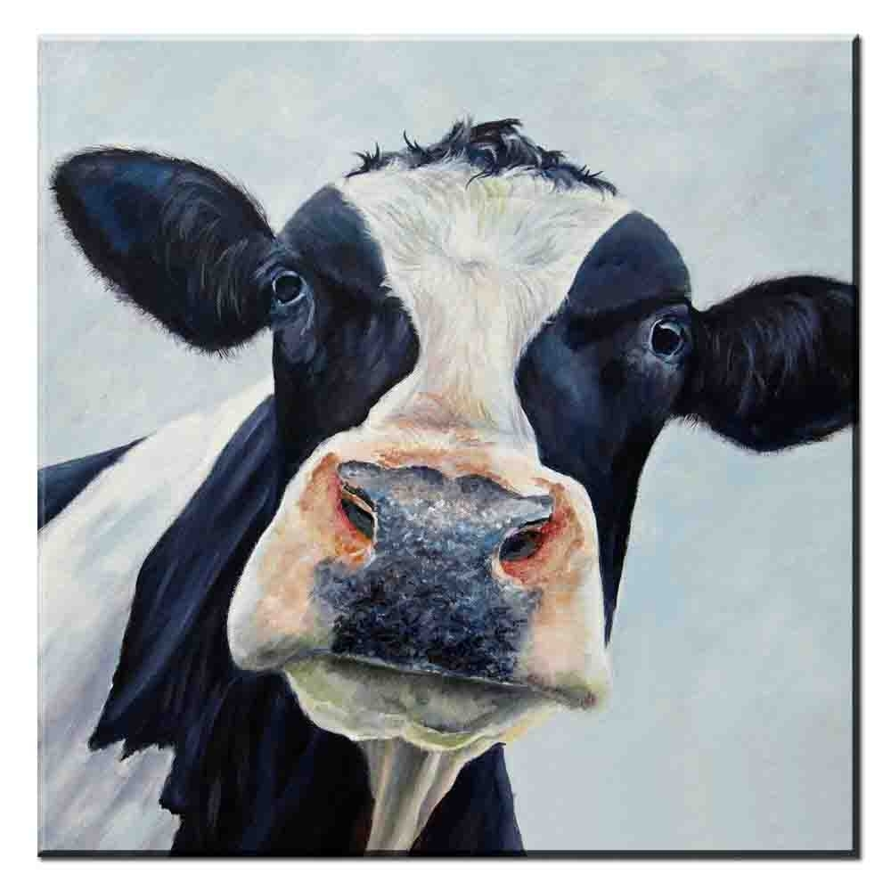 Xdr187 Abstract Canvas Wall Art Picture Colorful Cow Animal Canvas In Cow Canvas Wall Art (Gallery 15 of 20)