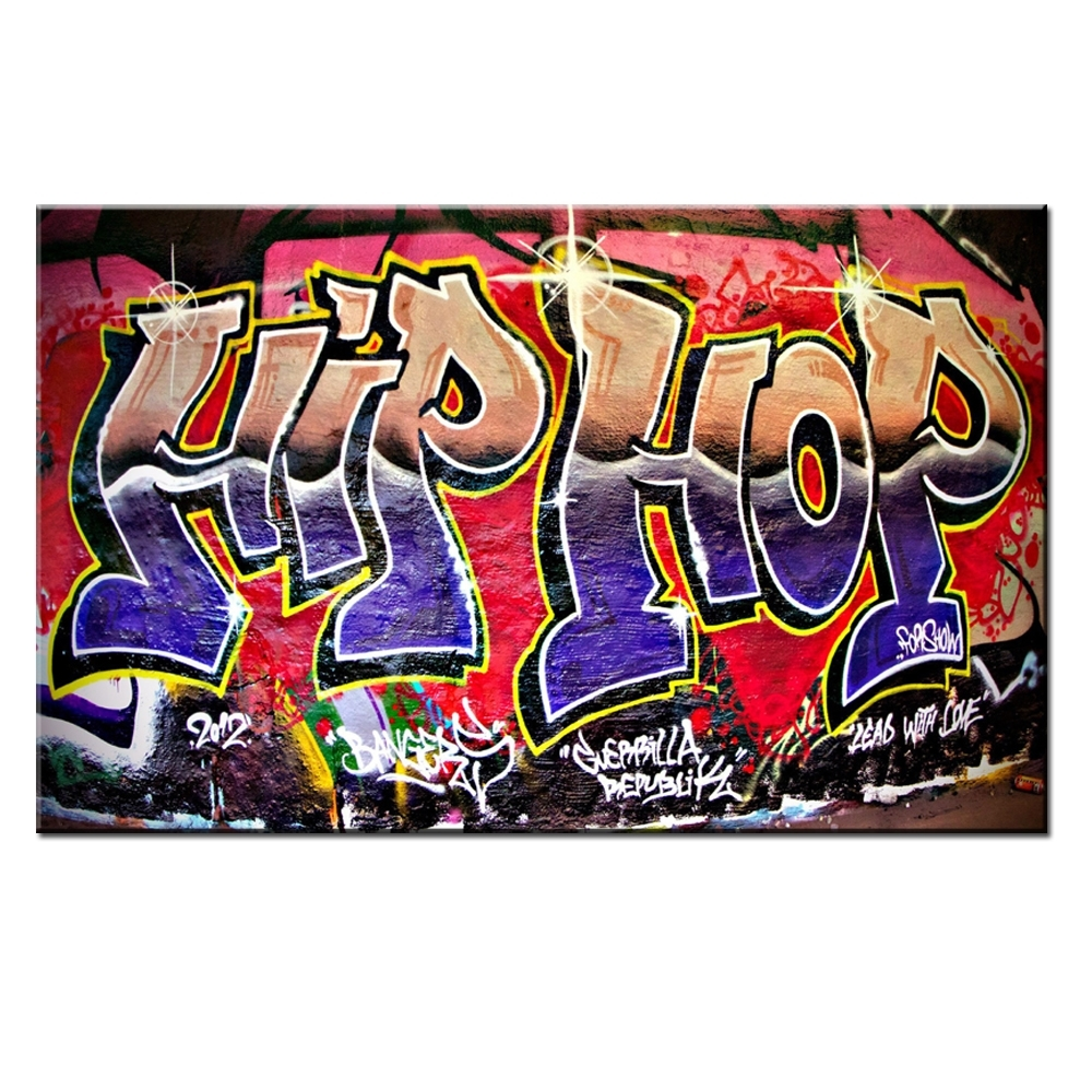Xdr951 Graffiti Street Art Hip Hop Canvas Wall Art Prints Poster For Intended For Hip Hop Wall Art (Photo 2 of 20)