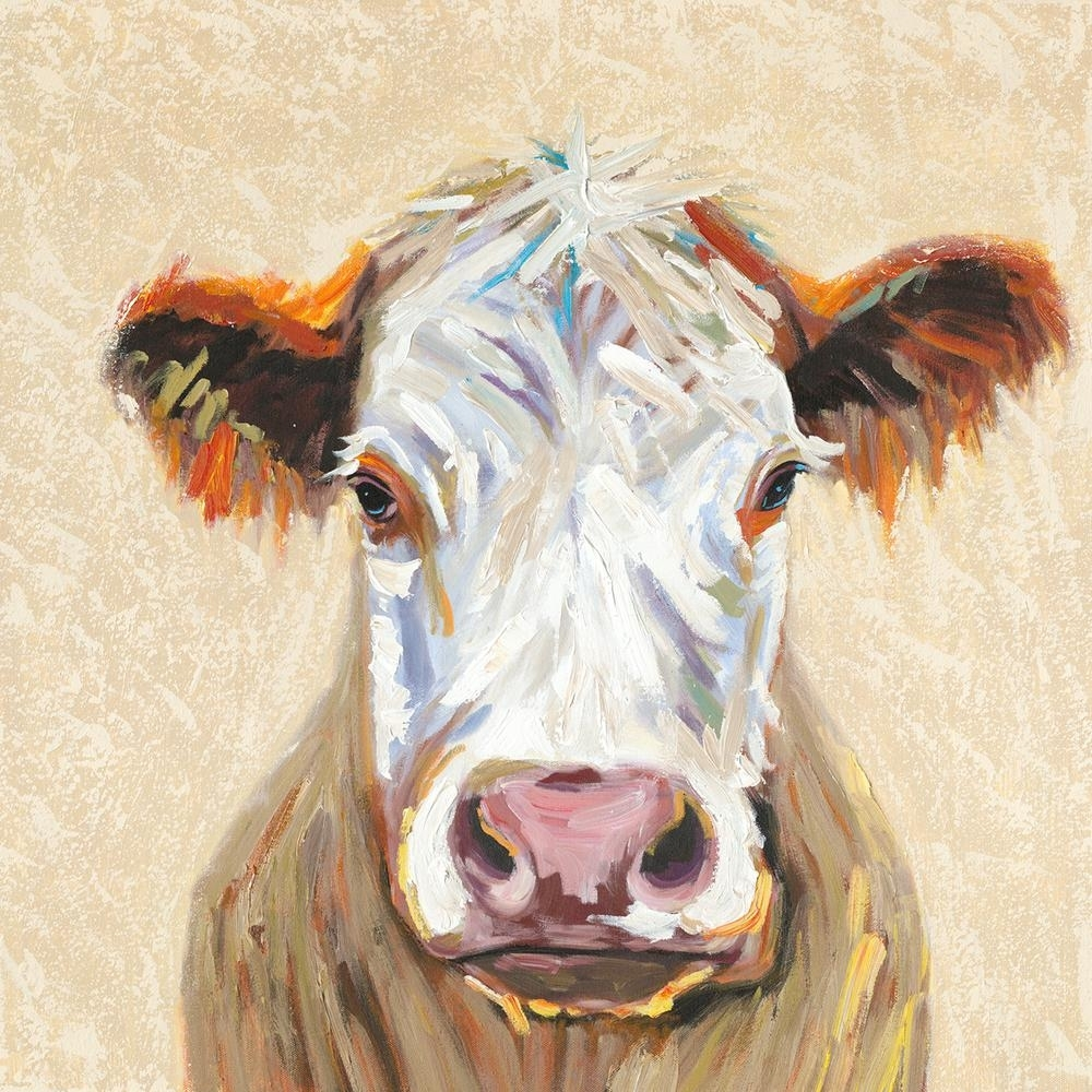 "Y Decor 36 In. X 36 In. ""hereford Cow"" Canvas Wall Art E0442   The With Regard To Cow Canvas Wall Art (Photo 3 of 20)"