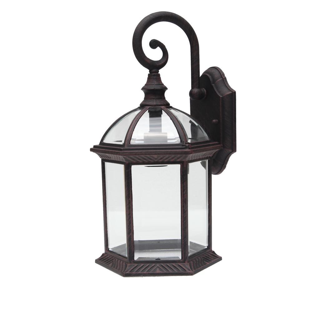 Y Decor Adalyn 1 Light Venetian Bronze Outdoor Wall Mount Lantern In Outdoor Lanterns Decors (View 14 of 20)