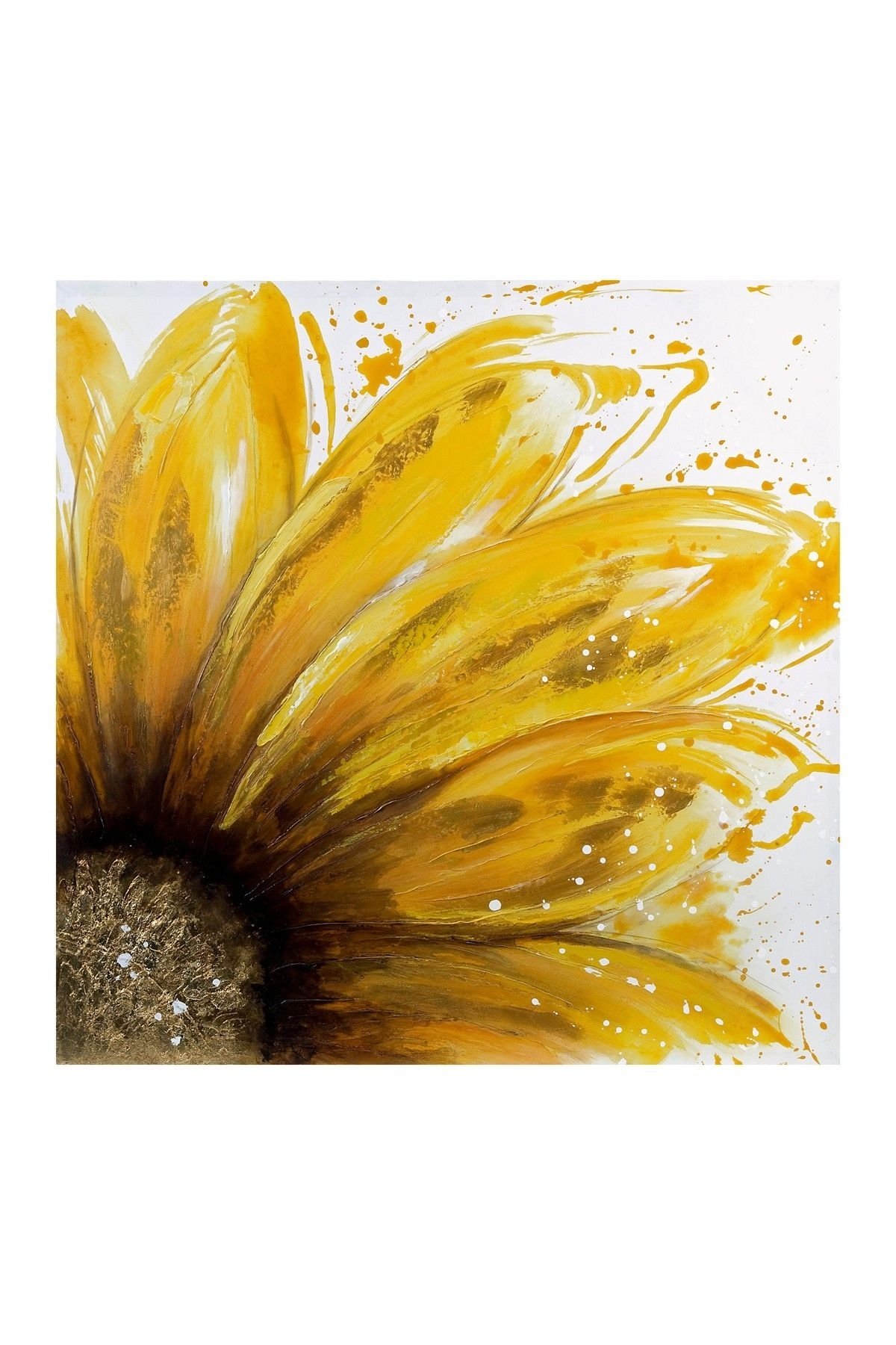 Yellow Daisy Oil Painting Canvas Wall Art On @hautelook | Art intended for Sunflower Wall Art (Image 20 of 20)