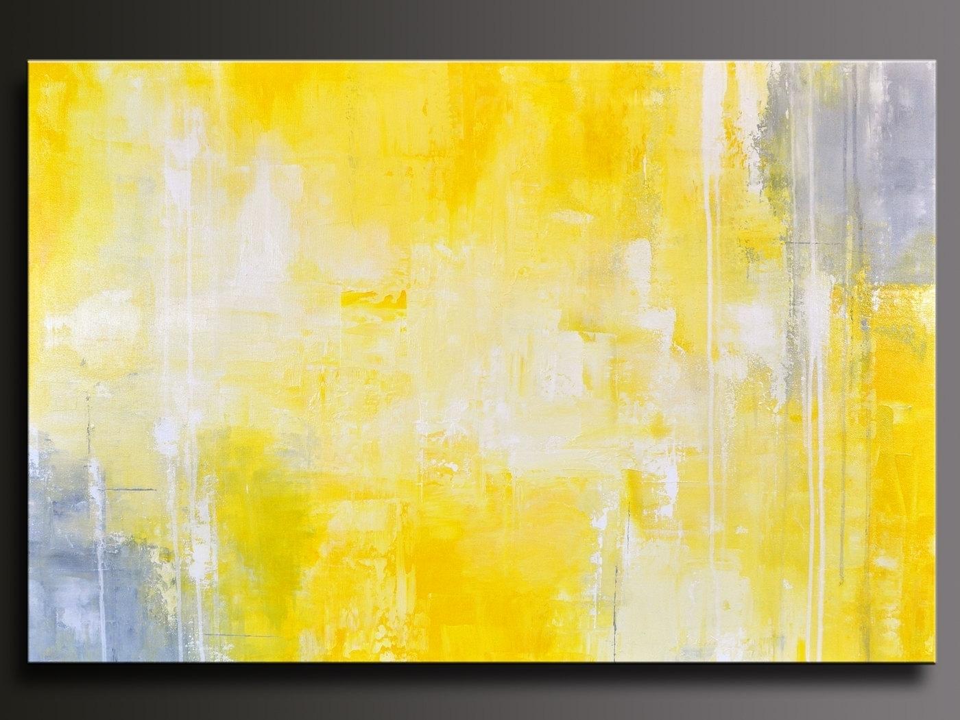 Yellow Grey Wall Art Regarding Popular Wall Art Designs Yellow And Within Yellow And Gray Wall Art (View 7 of 20)