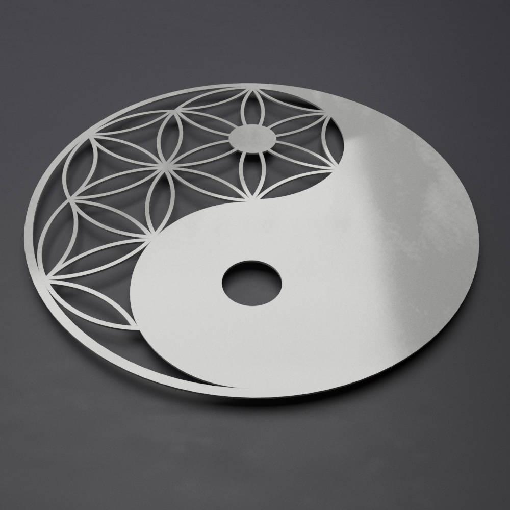 Yin Yang Metal Wall Art Zen Wall Decor Modern Metal Wall   Etsy With Modern Metal Wall Art (Gallery 18 of 20)