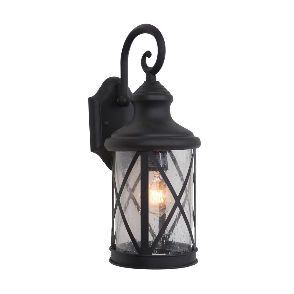 Yosemite Home Decor 1 Light Exterior Lantern In Black Finish Medium Pertaining To Outdoor Lanterns Decors (View 12 of 20)