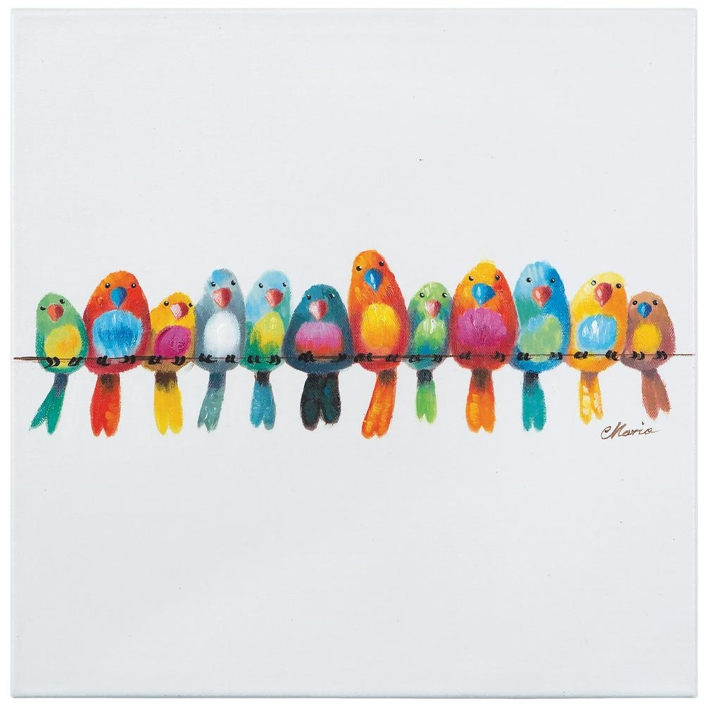 "Yosemite Home Decor 20 In. H X 20 In. W ""birds On A Wire Iii Regarding Birds On A Wire Wall Art (Photo 12 of 20)"