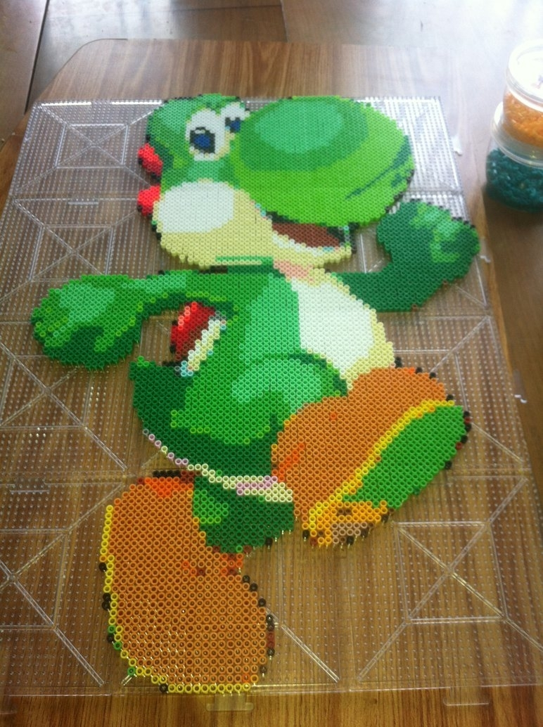 Yoshi Perler Wall Artshandab On Deviantart Within Nintendo Wall Art (Photo 19 of 20)