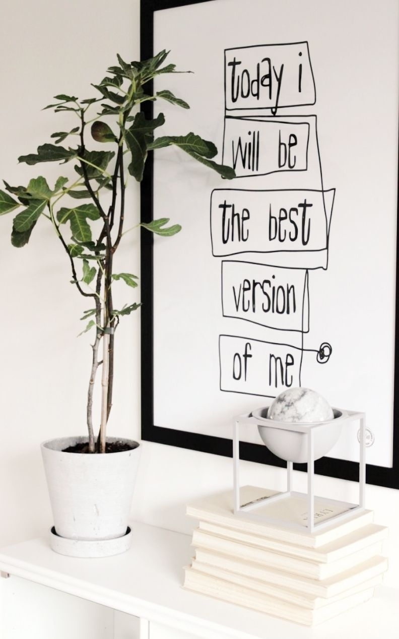 Your Favorite Quotes Are Now Words Of Art | Décor Details For Black And White Wall Art (Photo 19 of 20)