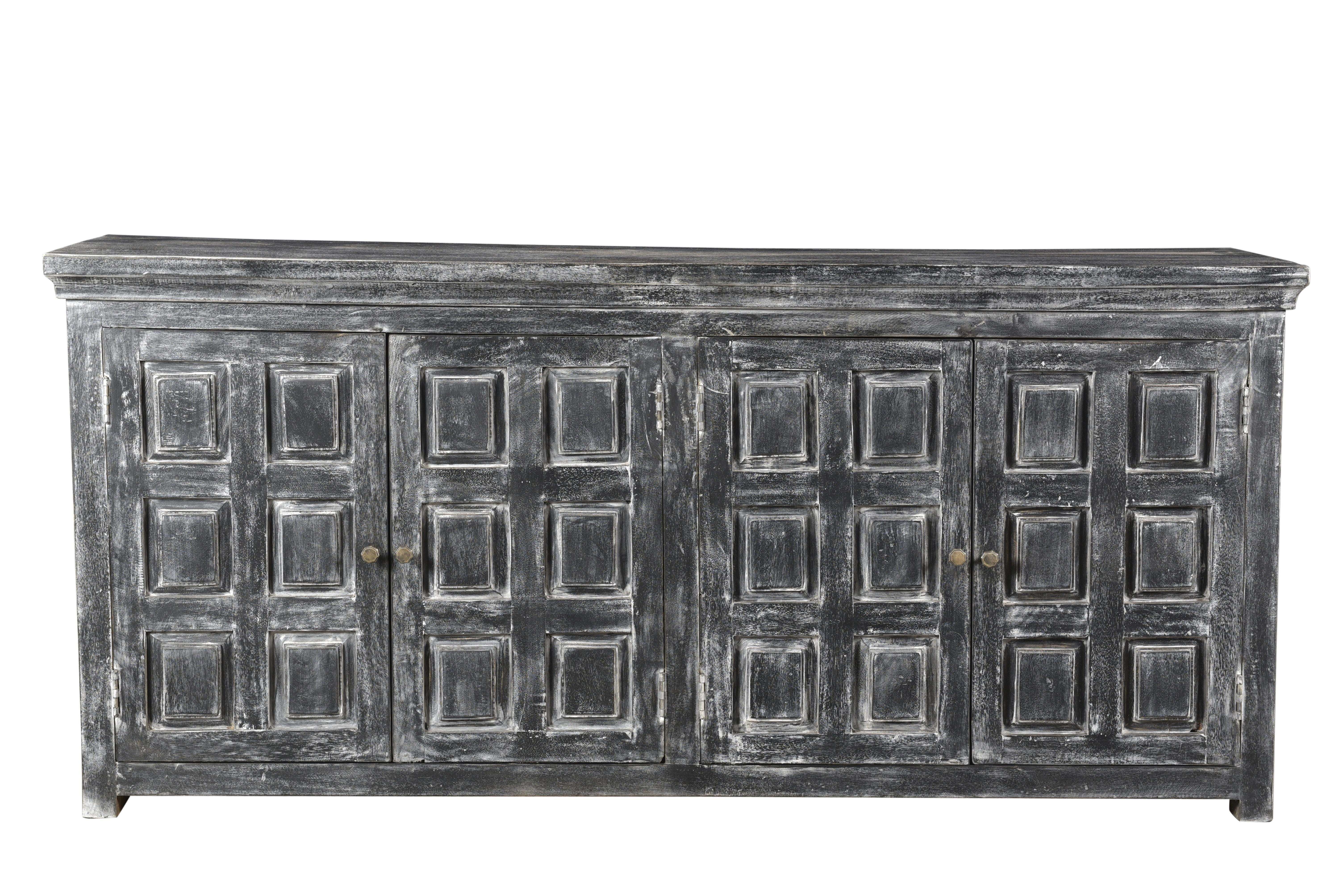 17 Stories Khiem 4 Door Sideboard | Wayfair Throughout Square Brass 4 Door Sideboards (Photo 22 of 30)