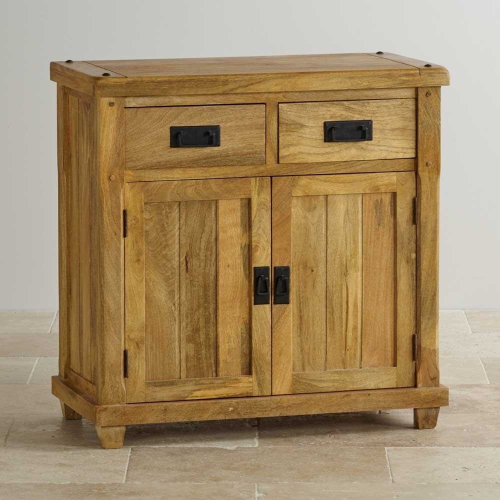 2 Door 2 Drawer Sideboard, Mango Wood – Wood Décor intended for Natural Mango Wood Finish Sideboards (Image 1 of 30)