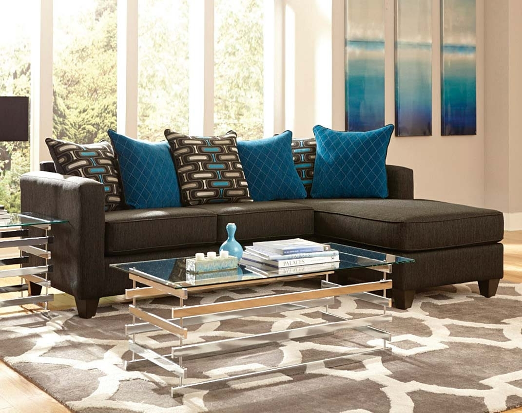 2 Pc. Black Sectional Couch With Chaise | American Freight In Meyer 3 Piece Sectionals With Raf Chaise (Gallery 16 of 30)