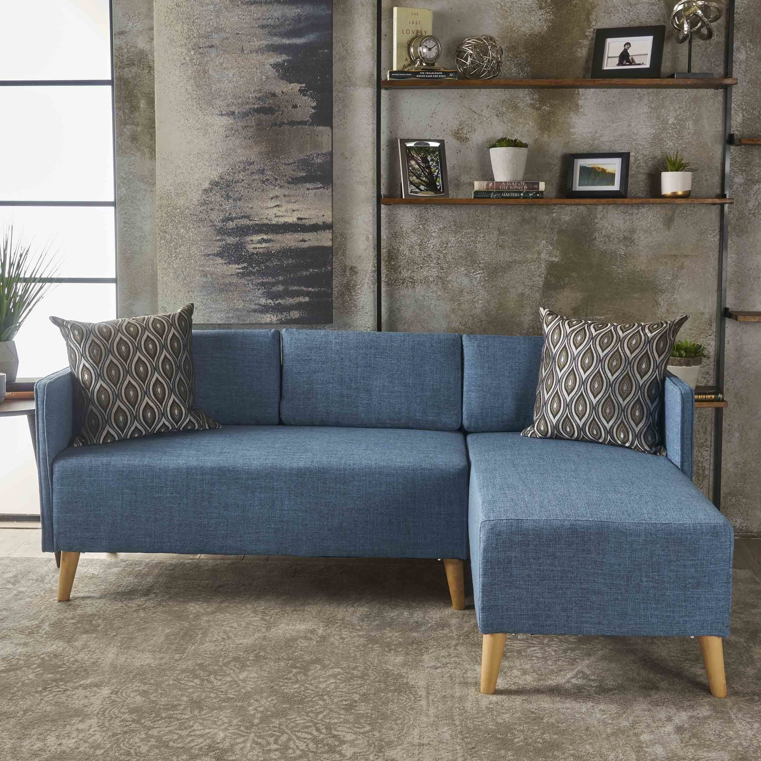 2 Piece Chaise Sectional Sofa | Baci Living Room for Tenny Dark Grey 2 Piece Left Facing Chaise Sectionals With 2 Headrest (Image 1 of 30)
