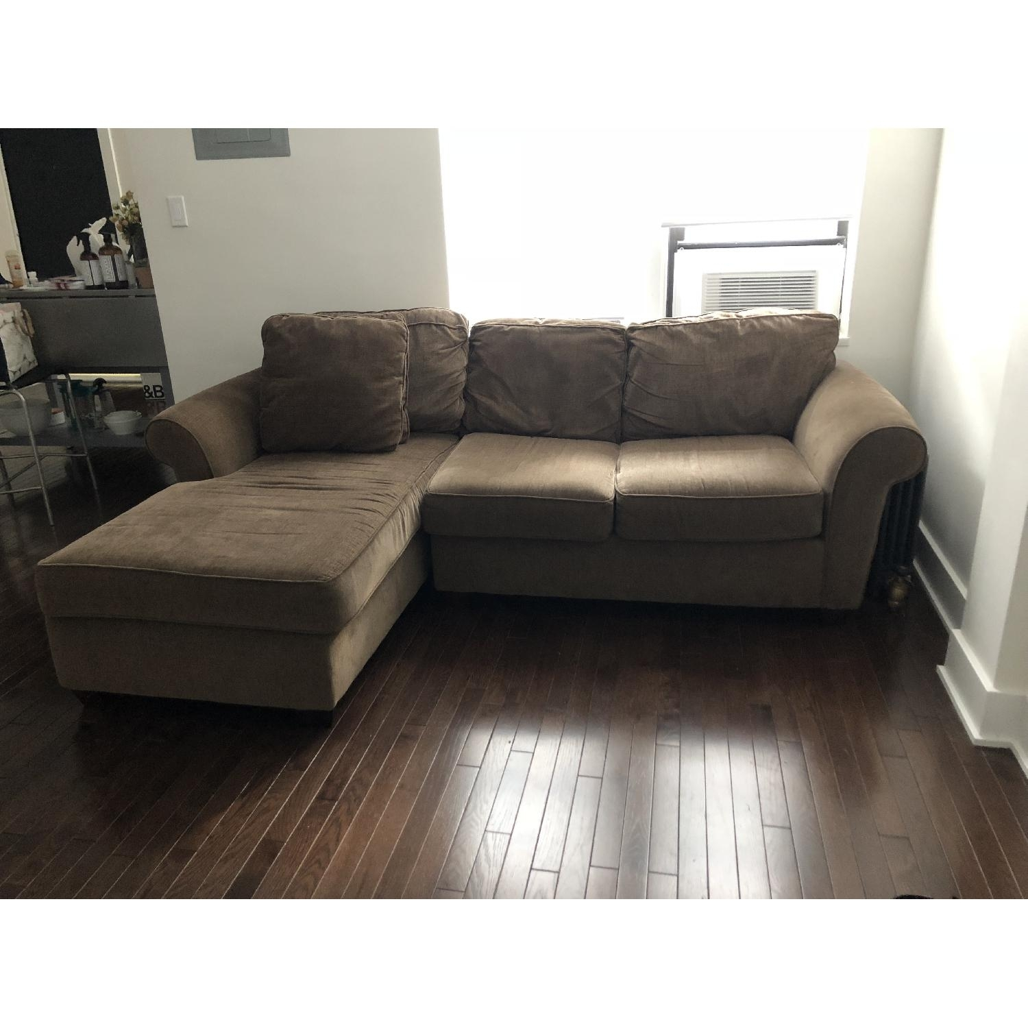 2 Piece Chaise Sectional Sofa | Baci Living Room pertaining to Tenny Cognac 2 Piece Left Facing Chaise Sectionals With 2 Headrest (Image 1 of 30)