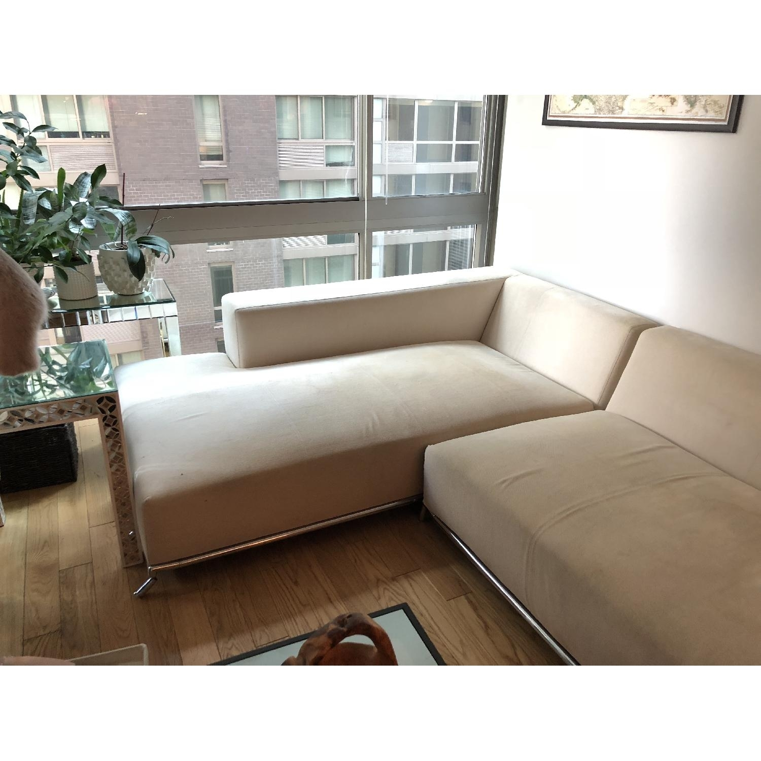 2 Piece Chaise Sectional Sofa | Baci Living Room with Tenny Cognac 2 Piece Left Facing Chaise Sectionals With 2 Headrest (Image 2 of 30)