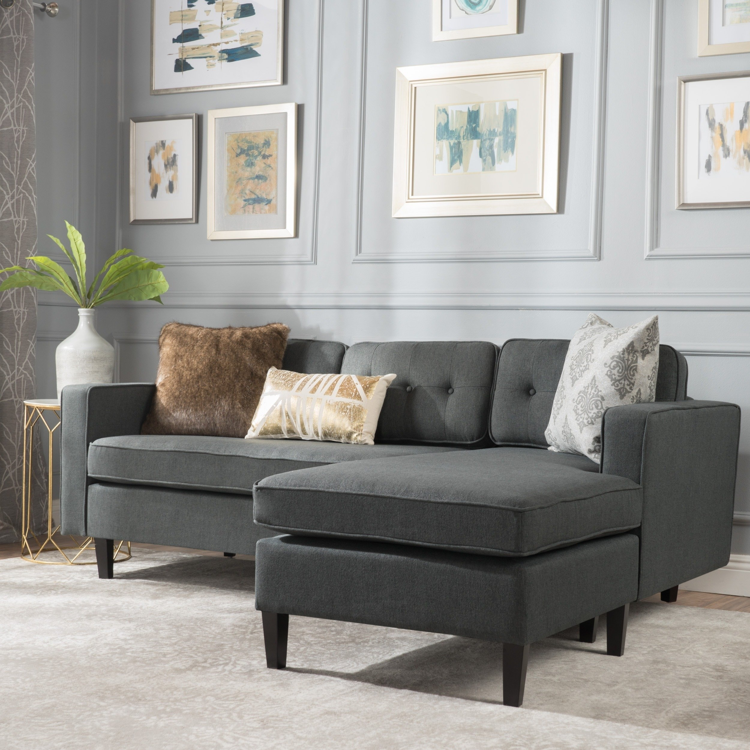 2 Piece Chaise Sectional Sofa | Baci Living Room within Evan 2 Piece Sectionals With Raf Chaise (Image 1 of 30)