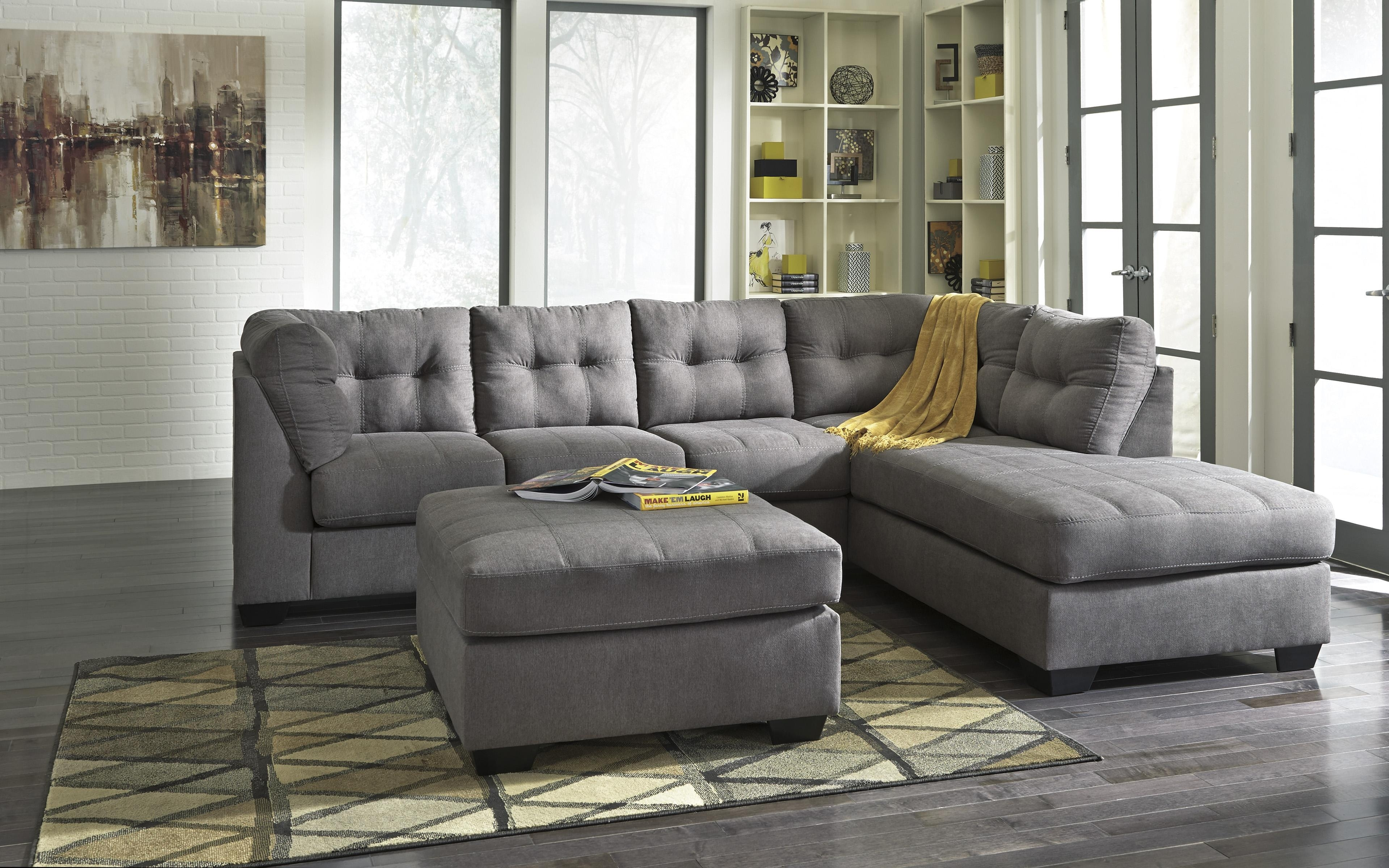 2 Piece Sectional With Right Chaisebenchcraft | Wolf And Inside Aurora 2 Piece Sectionals (Gallery 21 of 30)