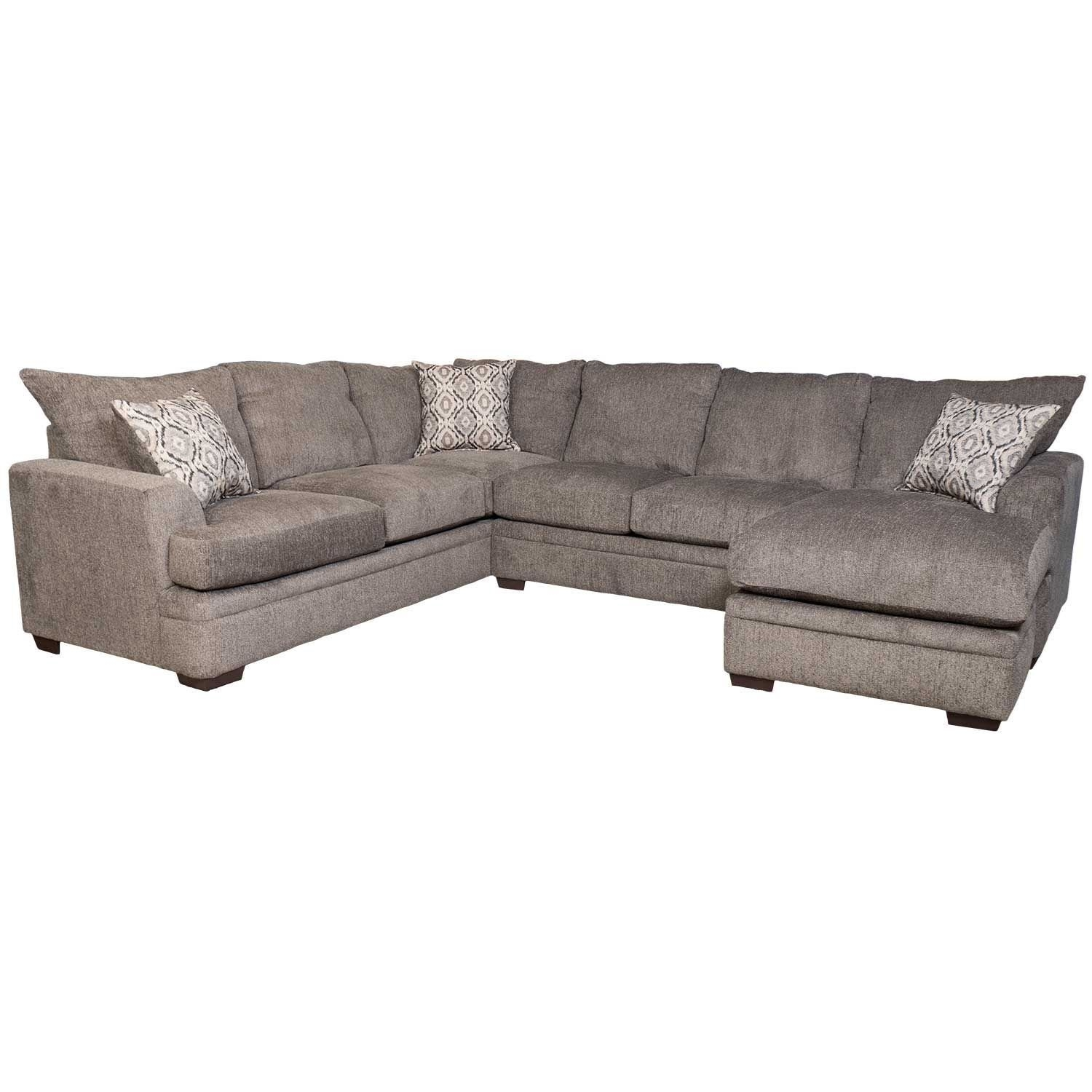 2Pc Pewter Raf Sectional W/chaise C2-68Rc-2Pc | Afw | Afw in Evan 2 Piece Sectionals With Raf Chaise (Image 3 of 30)