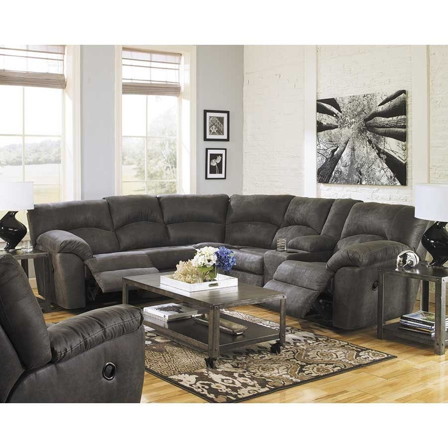 2Pc Pewter Reclining Sectional | 2780148/49 | Ashley Furniture | Afw Pertaining To Mesa Foam 2 Piece Sectionals (Photo 24 of 30)