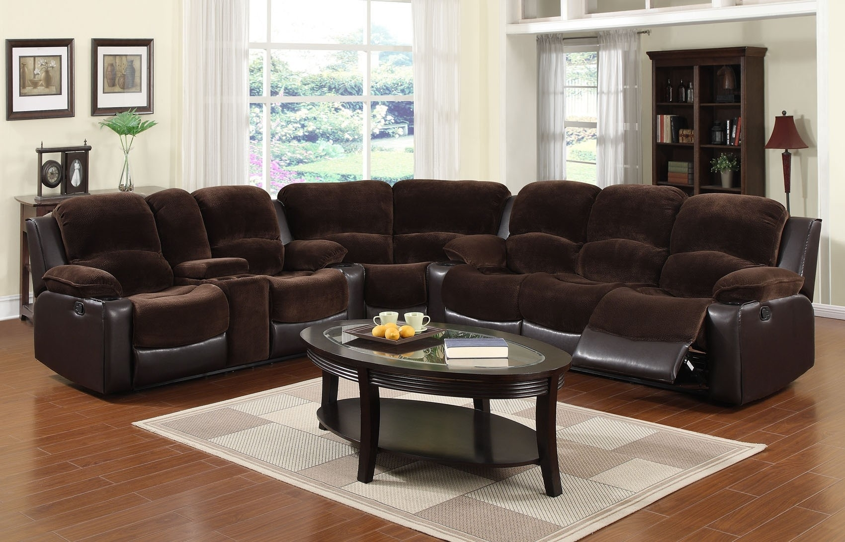 3 Pc Microfiber Sectional Sofa With Recliner And Queen Sleeper Within Declan 3 Piece Power Reclining Sectionals With Left Facing Console Loveseat (Photo 29 of 30)