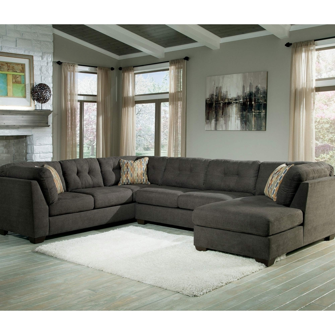 3 Pc Sectional Sofa With Chaise | Home Furniture Ideas with Gordon 3 Piece Sectionals With Raf Chaise (Image 2 of 30)
