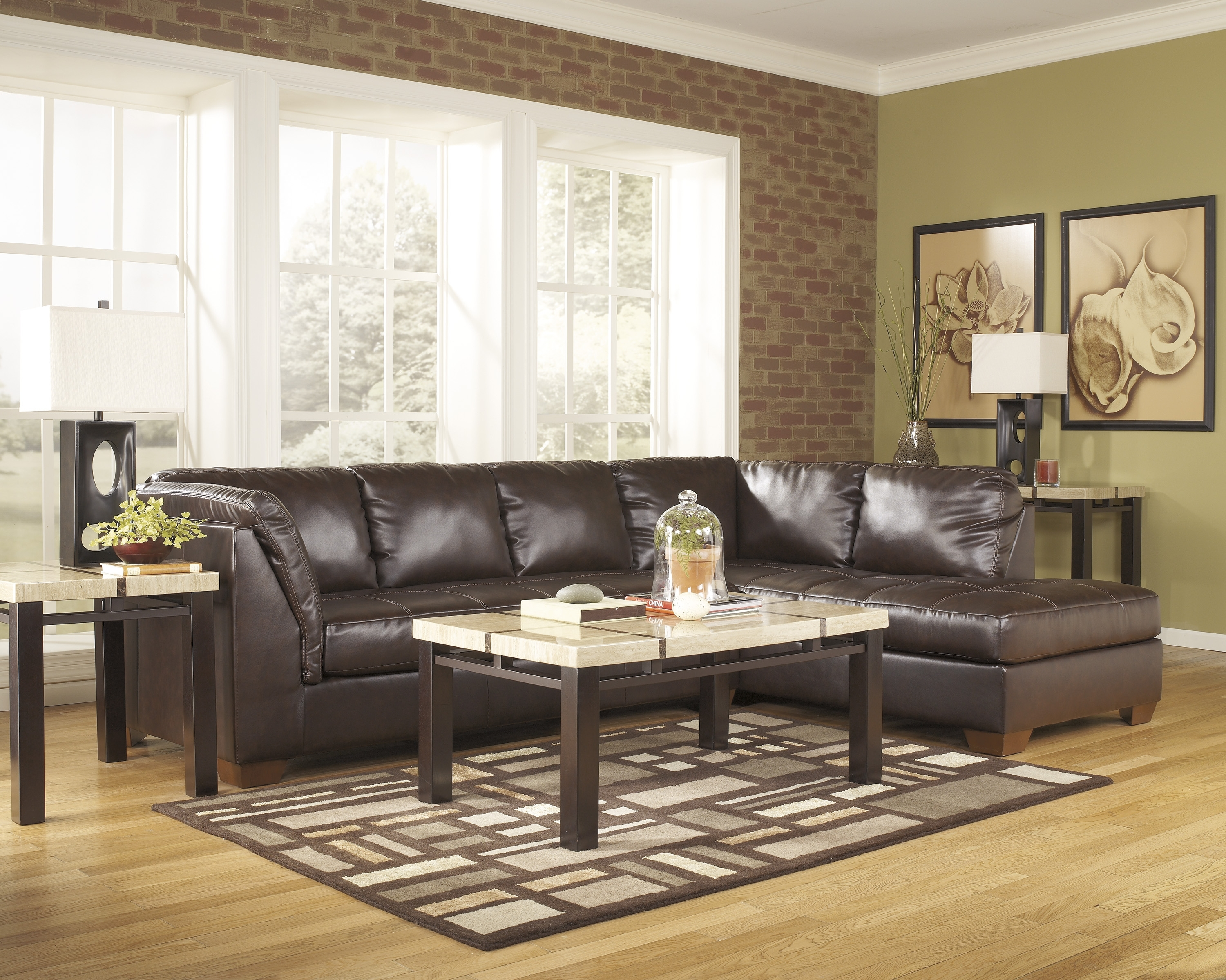 3 Piece Leather Sectional Sofa With Chaise | Home Furniture Decoration regarding Gordon 3 Piece Sectionals With Raf Chaise (Image 3 of 30)