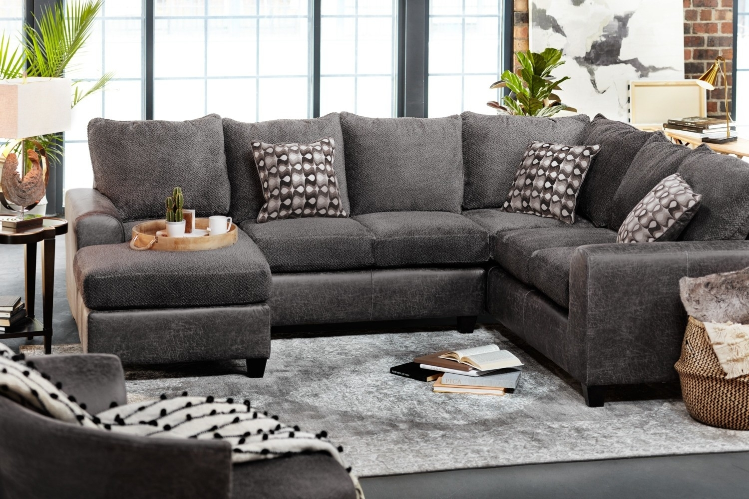 3 Piece Sectional Malbry Point W Laf Chaise Living Spaces 223533 0 Inside Malbry Point 3 Piece Sectionals With Laf Chaise (View 2 of 30)
