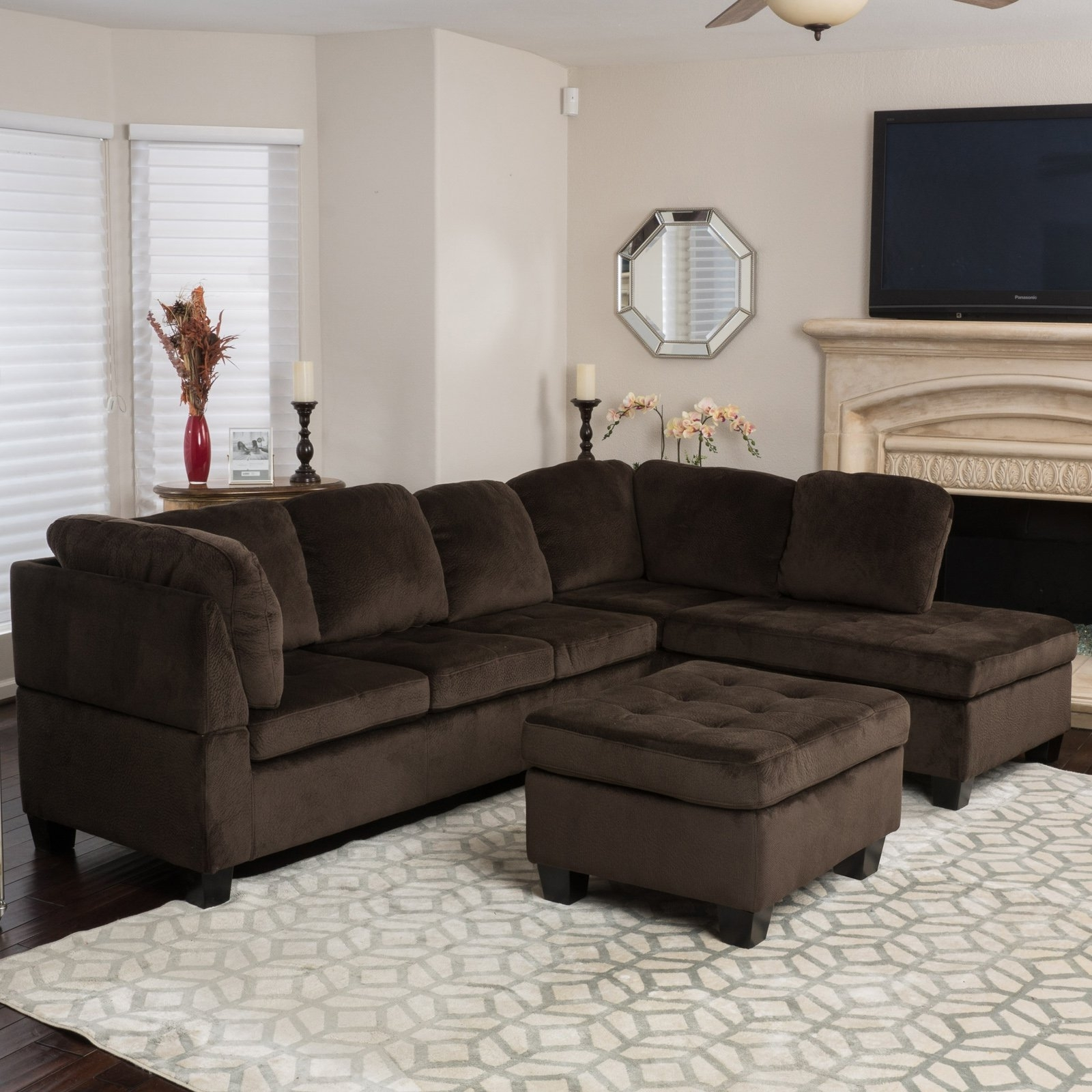 3 Piece Sectional Sofa Dimensions | Baci Living Room With Regard To Malbry Point 3 Piece Sectionals With Raf Chaise (View 17 of 30)