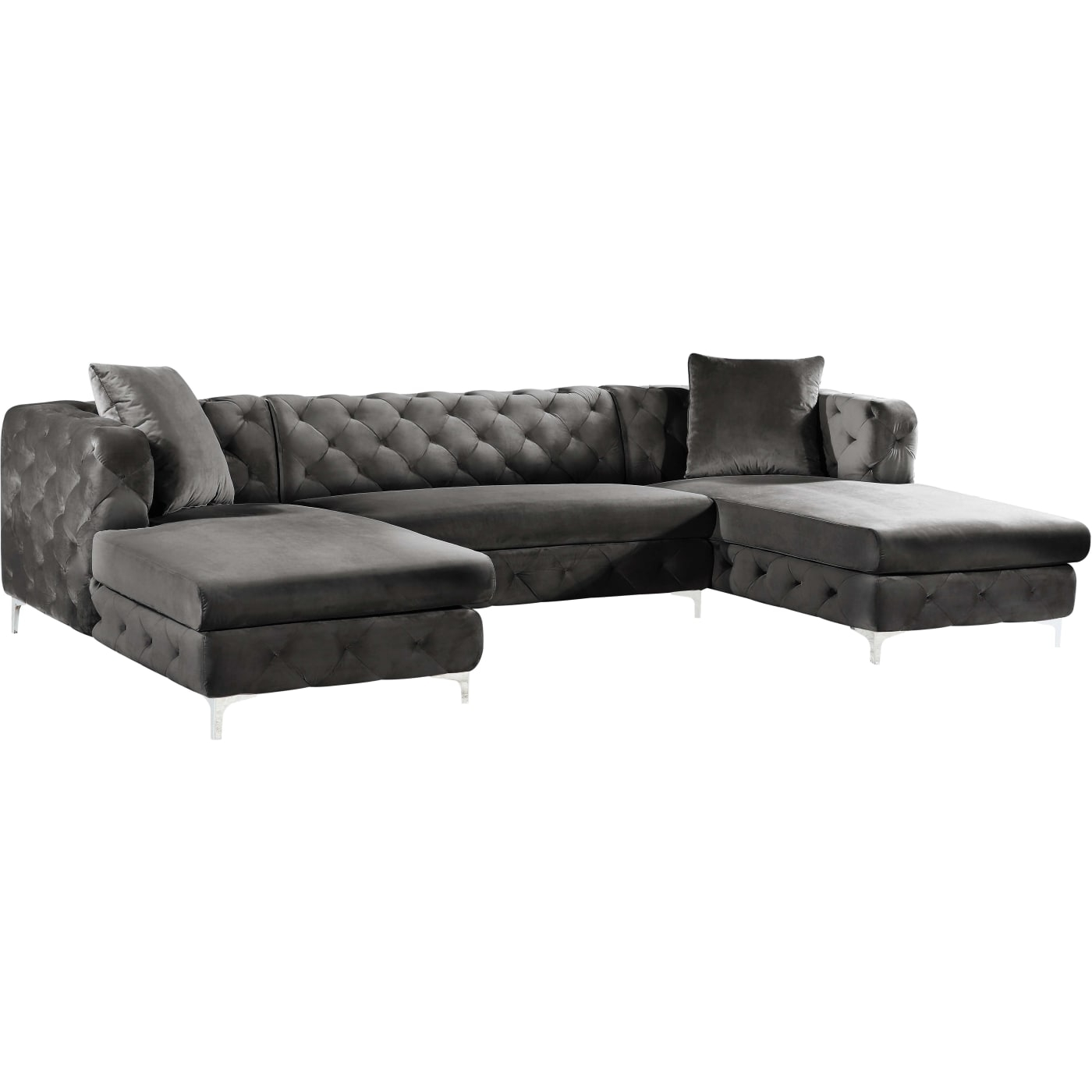 3 Piece Sectional Sofa With Chaise Reviews | Baci Living Room In Malbry Point 3 Piece Sectionals With Raf Chaise (View 23 of 30)