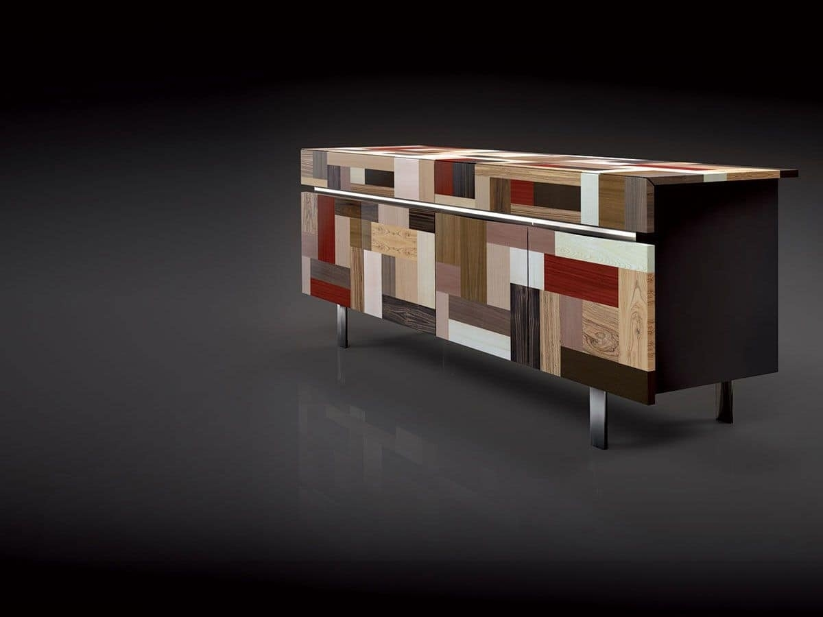 4 Doors Sideboard, High-Value Finishes, Ideal For Residential Use intended for Ironwood 4-Door Sideboards (Image 3 of 30)