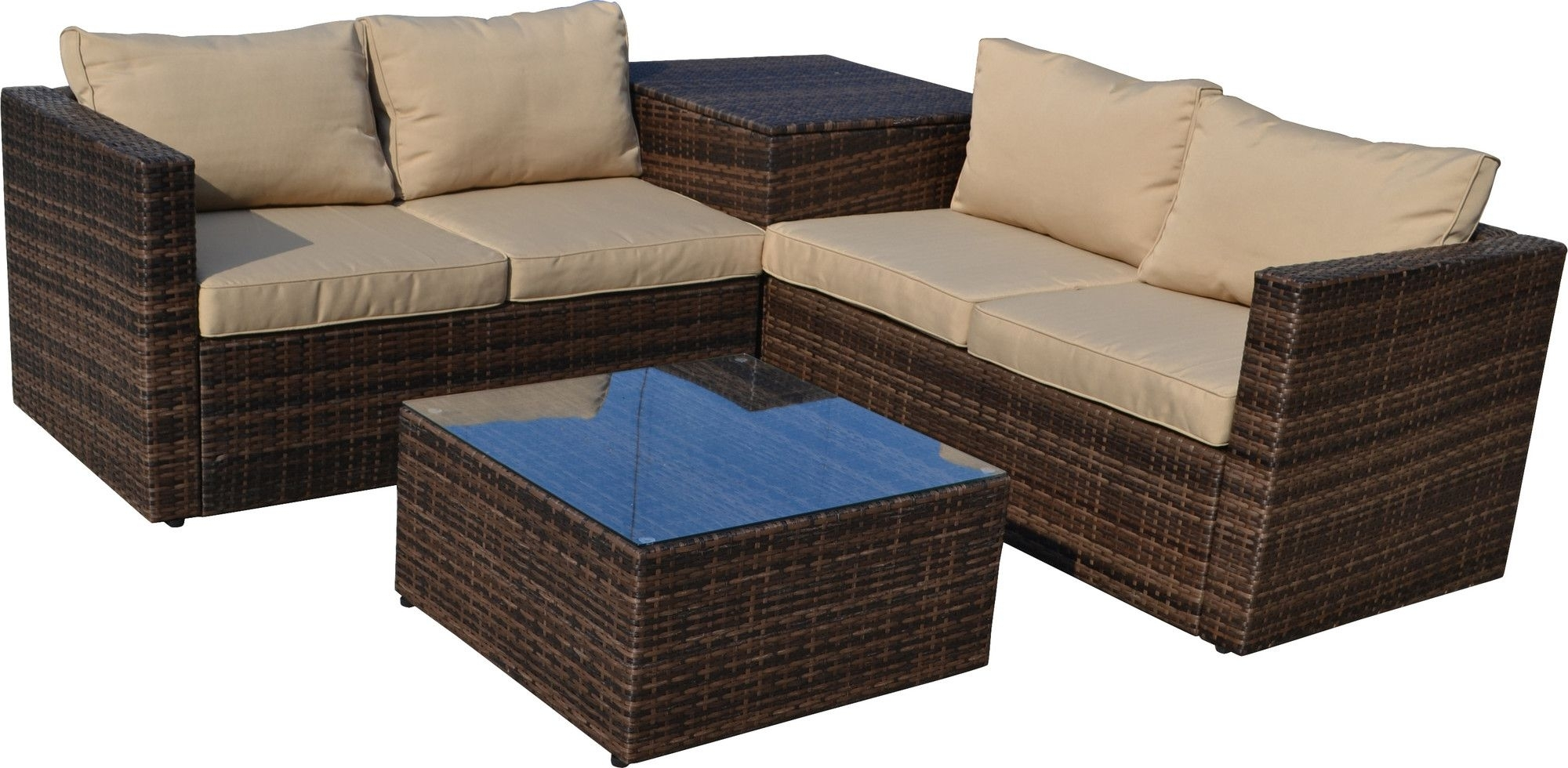 4-Piece Aidan Patio Seating Group | Products | Pinterest | Outdoor in Aidan 4 Piece Sectionals (Image 1 of 30)