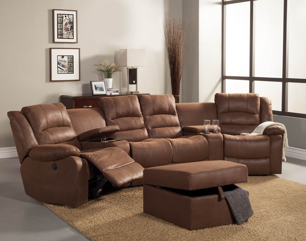 5 Pc Tucker Collection Brown Bomber Jacket Microfiber Upholstered With Marcus Grey 6 Piece Sectionals With  Power Headrest & Usb (Photo 22 of 30)