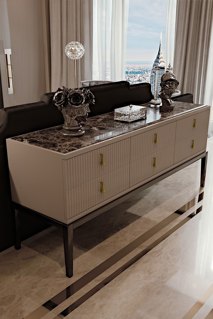 511 Best Entrance Images On Pinterest | Consoles, Console Tables And inside Palazzo 87 Inch Sideboards (Image 2 of 30)