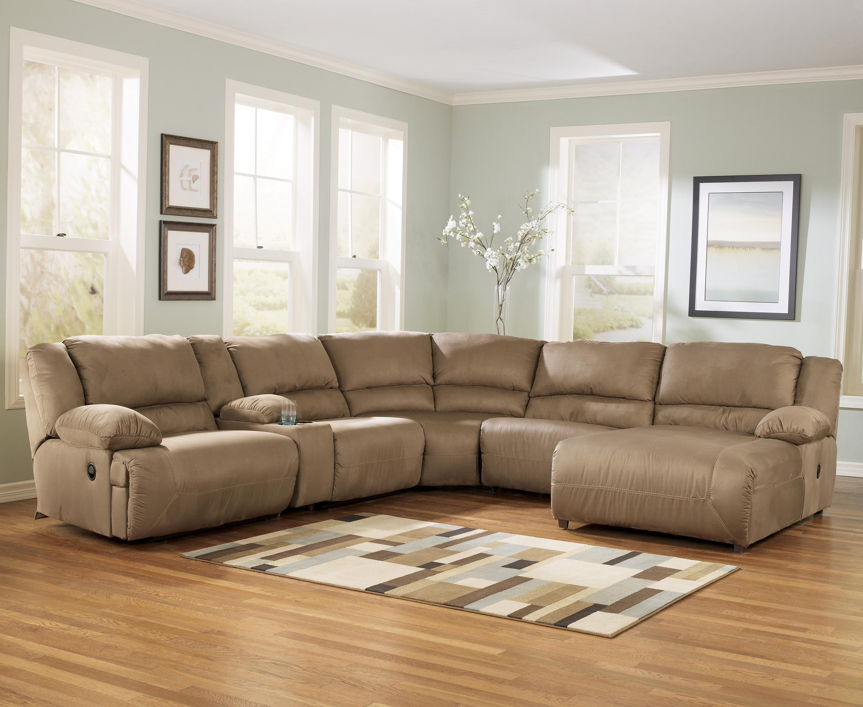 6 Piece Reclining Sectional Sofa | Baci Living Room regarding Denali Charcoal Grey 6 Piece Reclining Sectionals With 2 Power Headrests (Image 3 of 30)