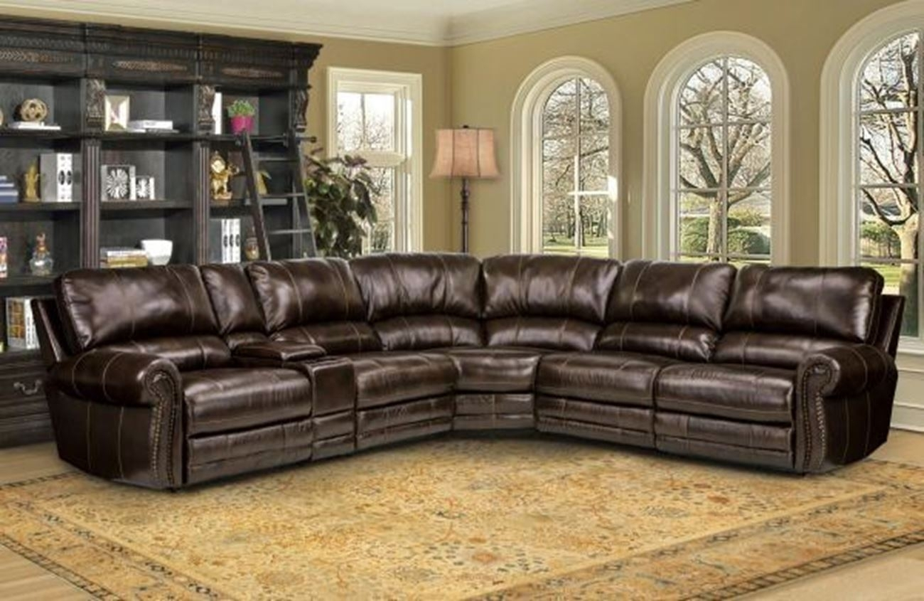 6 Piece Reclining Sectional Sofa | Baci Living Room within Denali Charcoal Grey 6 Piece Reclining Sectionals With 2 Power Headrests (Image 4 of 30)