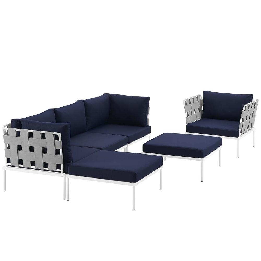6 Piece Sectional Sofa Set | Baci Living Room for Marcus Grey 6 Piece Sectionals With  Power Headrest & Usb (Image 4 of 30)