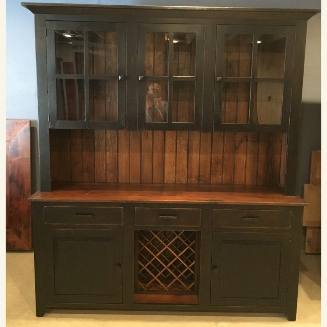 6′ Wine Hutch | Furniture From The Barn Intended For Walnut Finish Crown Moulding Sideboards (Gallery 17 of 30)