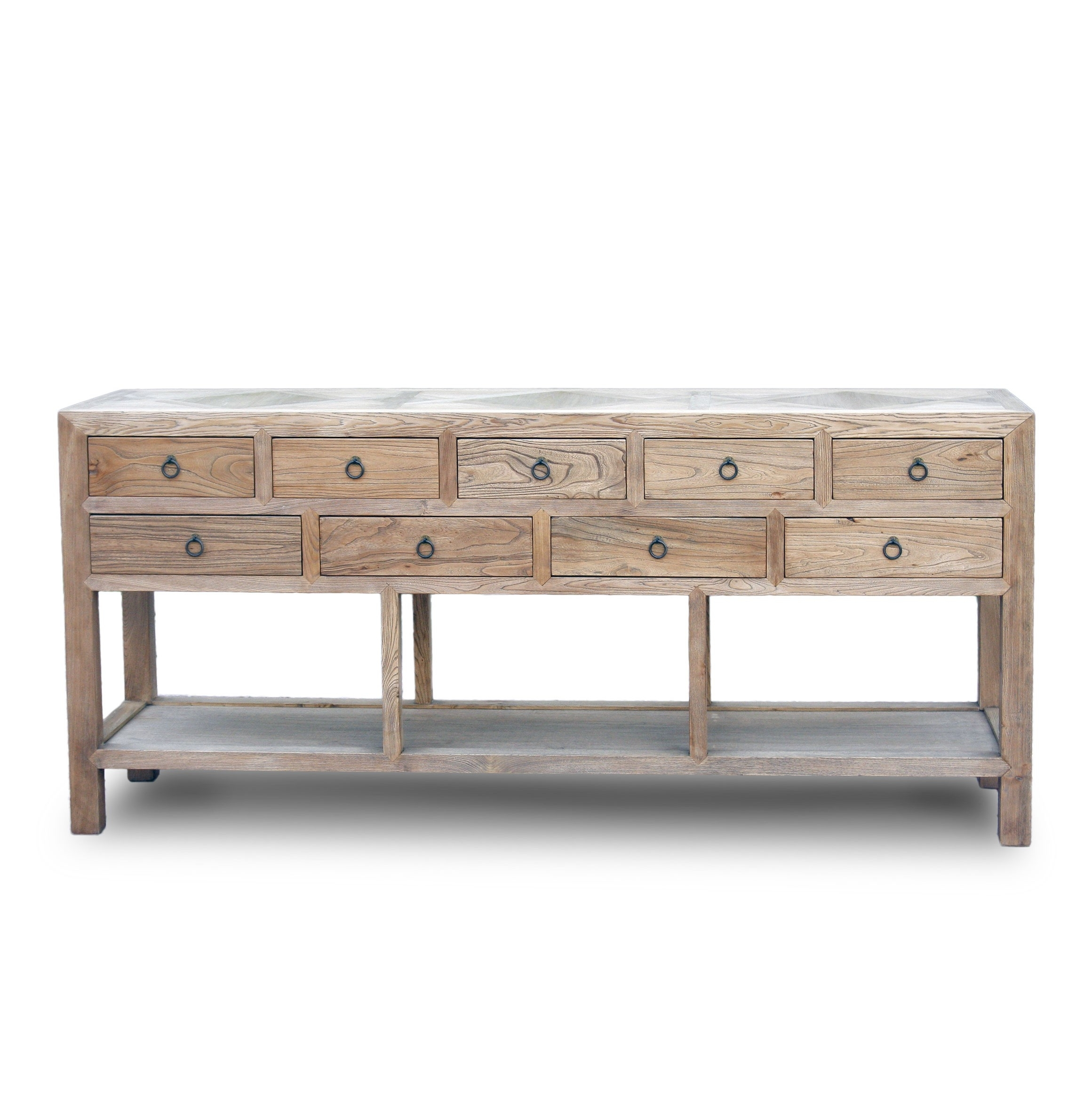 9 Drawer Raised Sideboard With Parquet Or Stone Inlay Top - Acf China within Parquet Sideboards (Image 1 of 30)