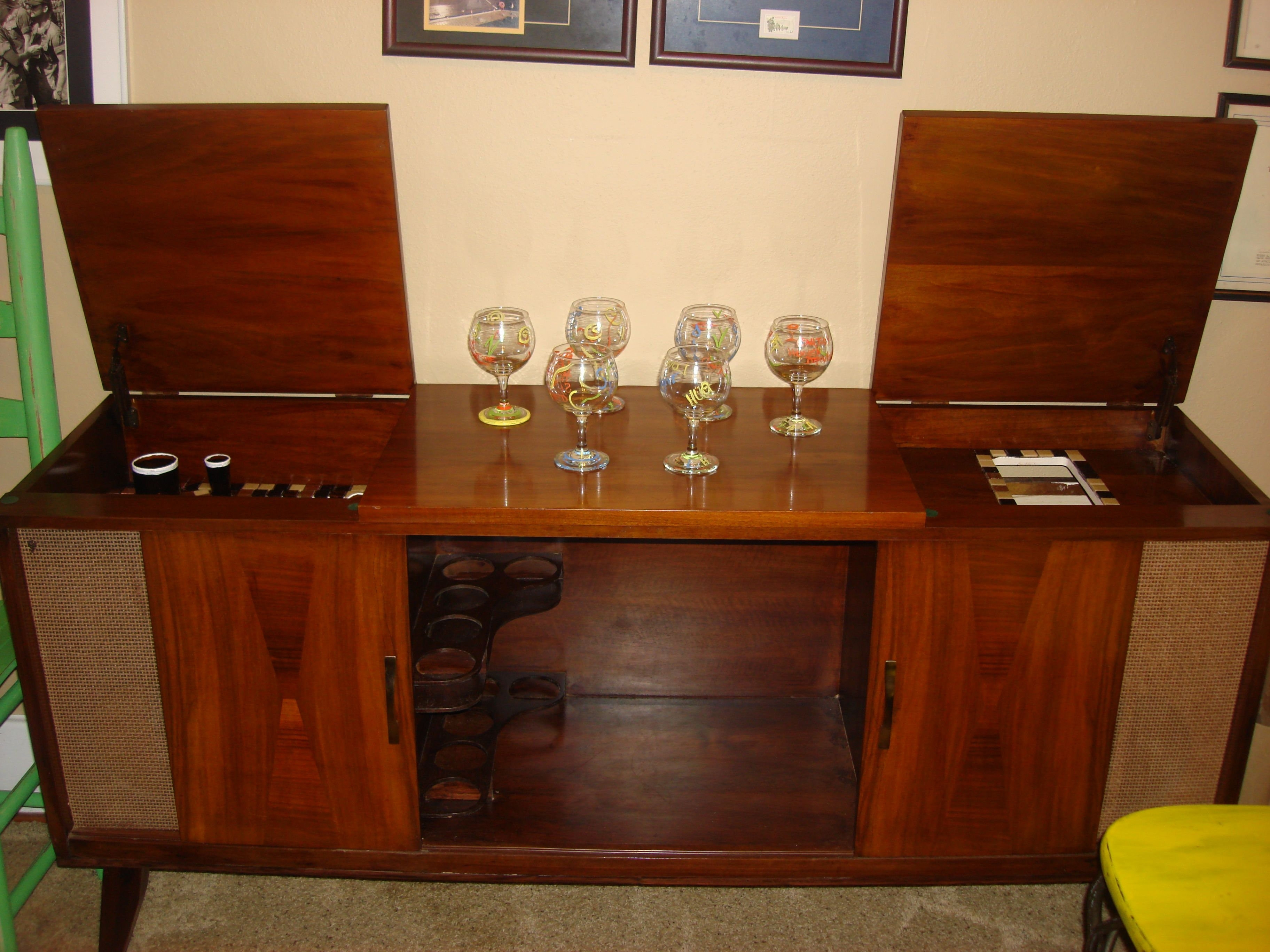 A 1960's Console Stereo Re-Purposed Into A Bar. Visit Me On Facebook for Helms Sideboards (Image 4 of 30)
