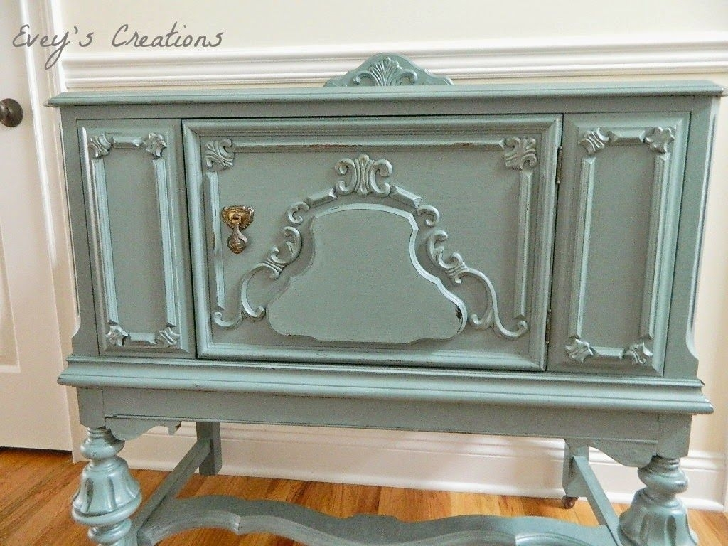 A Pretty Blue Girlvintage Sideboard Redo | Inspiration - Buffets pertaining to Teagan Sideboards (Image 4 of 30)