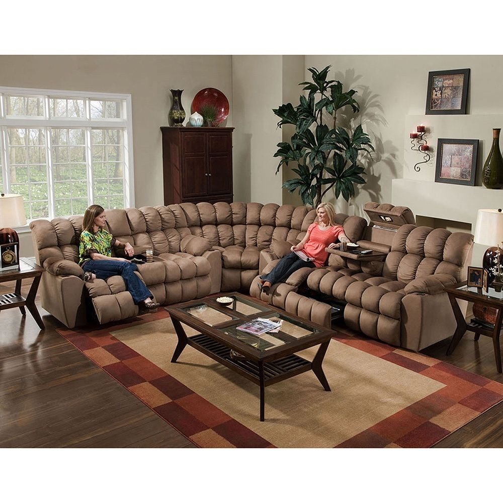 Abbyson Living Delano Sectional Sofa And Storage Ottoman Set. This within Delano 2 Piece Sectionals With Laf Oversized Chaise (Image 1 of 30)
