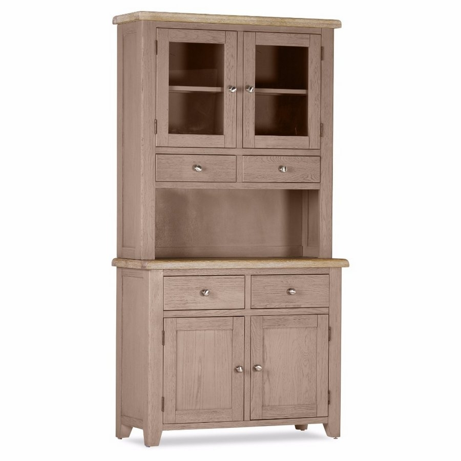 Abdabs Furniture - Scotia Grey And Whitewash 2 Door 2 Drawer within 2-Door White Wash Sideboards (Image 2 of 30)