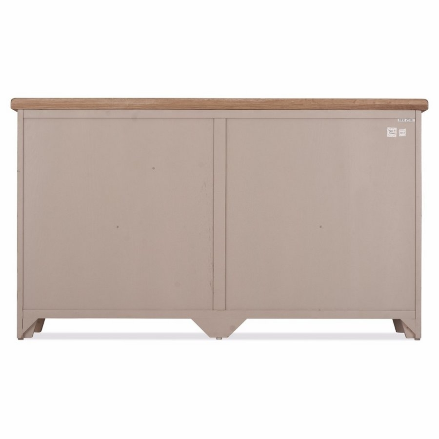 Abdabs Furniture - Scotia Grey And Whitewash 3 Door 3 Drawer Sideboard for 4-Door 3-Drawer White Wash Sideboards (Image 1 of 30)