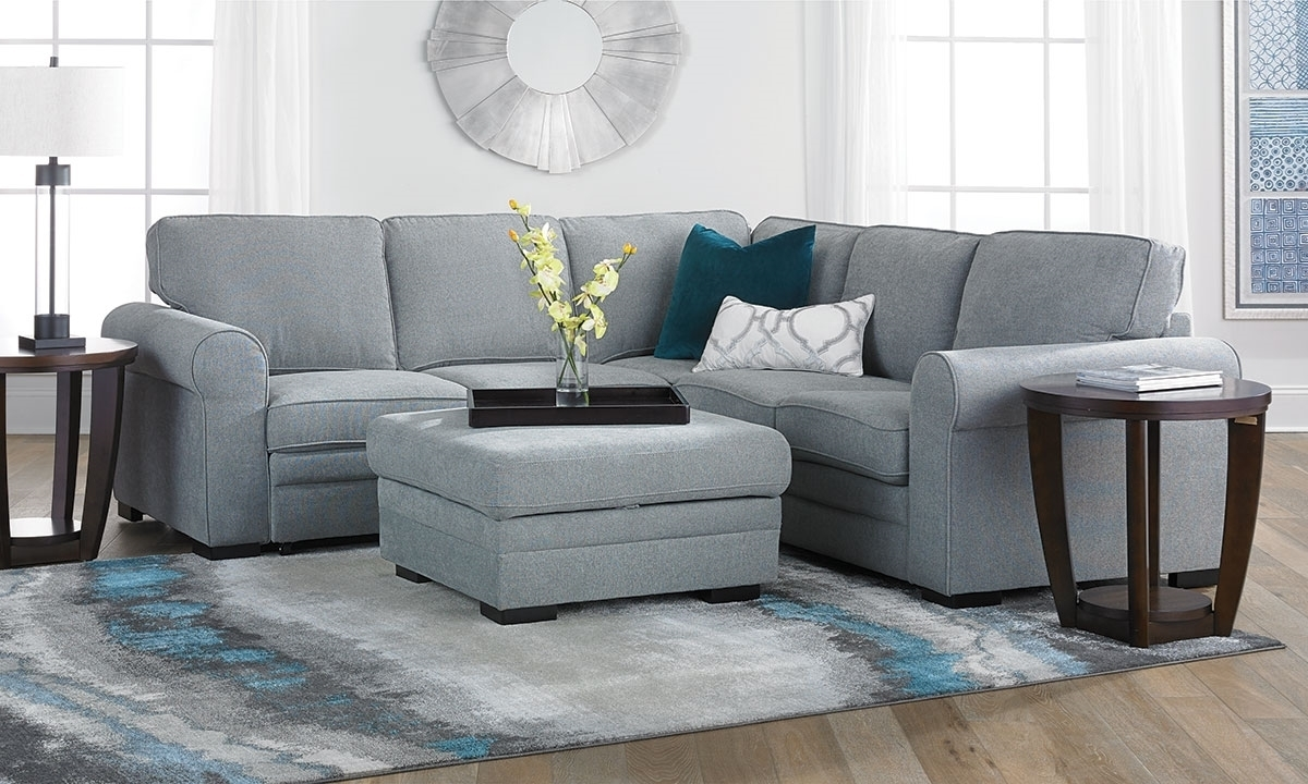 Abigale Roll Arm Sleeper Sectional | The Dump Luxe Furniture Outlet regarding Norfolk Grey 3 Piece Sectionals With Laf Chaise (Image 1 of 30)