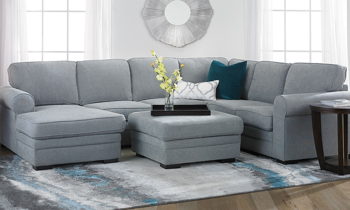 Abigale Roll Arm Sleeper Sectional With Storage Chaise | The Dump intended for Norfolk Grey 6 Piece Sectionals With Raf Chaise (Image 1 of 30)