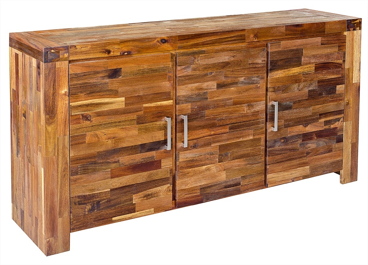 Acacia 3 Door Wooden Sideboard - Be Fabulous! with regard to Acacia Wood 4-Door Sideboards (Image 1 of 30)