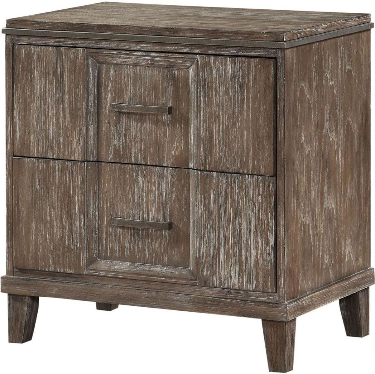 Acme Furniture Bayonne 2 Drawer Nightstand With Qi Wireless Dock In with regard to Burnt Oak Wood Sideboards (Image 2 of 30)