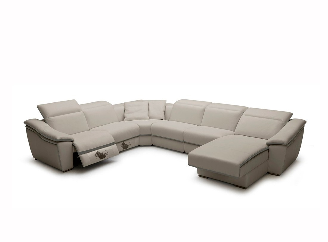 Adorable Sale Grey Lear Sectional Sofa Recliners Light Grey Lear with regard to Tenny Dark Grey 2 Piece Right Facing Chaise Sectionals With 2 Headrest (Image 4 of 30)