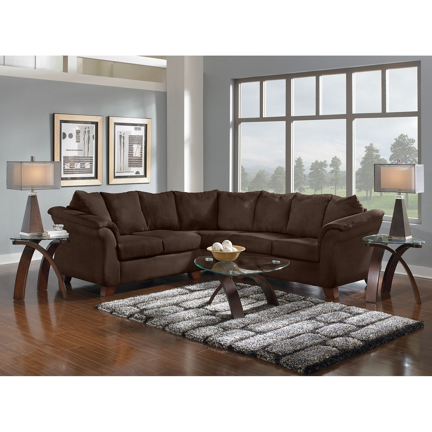 Adrian 2-Piece Sectional - Chocolate | Home Living | Pinterest inside Denali Light Grey 6 Piece Reclining Sectionals With 2 Power Headrests (Image 4 of 30)