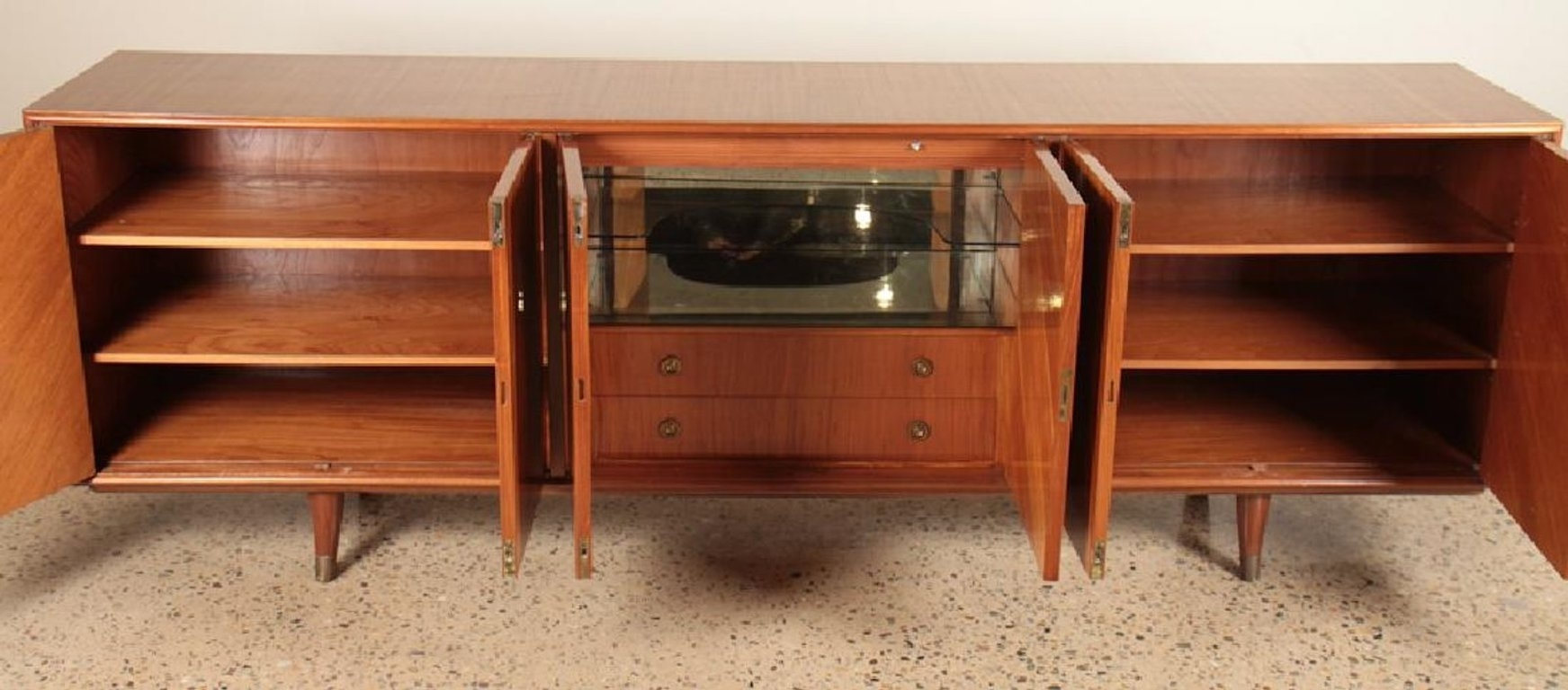 African Mahogany Sideboard With Starburst Design, Circa 1960 At 1Stdibs with regard to Starburst 3 Door Sideboards (Image 1 of 30)